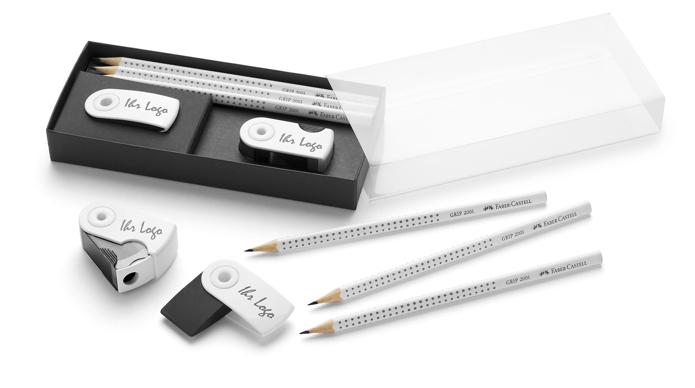 Schreibst, Faber Castel, Bleistift + Radiergummi, Radiergummi, Bleistift, Werbemittel, Werbeartikel