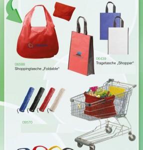 Einkaufstaschen mit Werbeanbringung