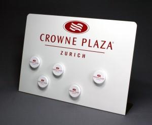 Tischaufsteller mit Magnete