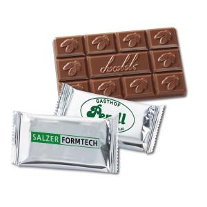 Tafelschokolade mit Logo