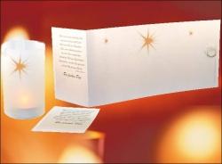 Lichtrolle-Stern-Weihnachtskarte