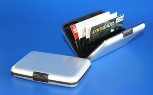 Aluminium Brieftasche