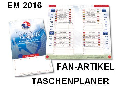 Fan-Artikel Taschenplaner EM 2016