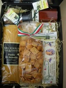 "Geschenk-Koffer ""Italien-Reise"", Geschenkset, Präsentkorb, Advents-Präsent,"