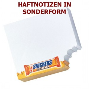 Haftnotizen in Sonderform, Klebezettel in Sonderform, Post-it Blöcke in Sonderform, Haftpapierblock in Sonderform