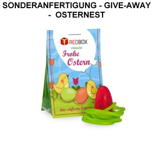 NT-S-1030 Naschtasche Osternest in Sonderanfertigung als Give-Away