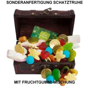SA-1016_Mini Schatztruhe mit Fruchtgummi-Mischung in Sonderanfertigung, Sonderproduktion