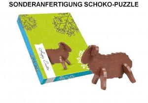 Sonderanfertigung Schokolade, 3D Puzzle Schokolade, Sonderproduktion Ostern