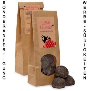 WT-1000 Essbare Grillkohle, Sonderanfertigung Werbesüßigkeiten für Gastronomie, Tourismus und Grill-Event