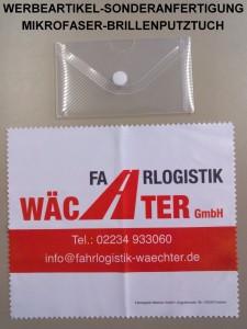 Werbeartikel-Sonderanfertigung Mikrofaser-Brillenputztuch, Spedition Wächter