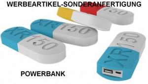 PowerBank_PVC_Pillen, Werbeartikel-Sonderanfertigung für die Pharma-Branche