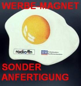 Spritzguss-Magnet Sonderanfertigung, Werbe-Magnet in Sonderform