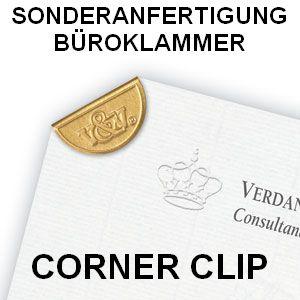Corner Clip Büroklammer in Sonderanfertigung