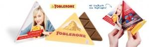Grusskarte-mit- TOBLERONE- Dreieckstafel