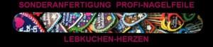 Oktoberfest-Werbeartikel in Sonderanfertigung Profi-Nagelfeile Lebkuchen-Herzen