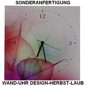Sonderanfertigung Wand-Uhr Design Herbst-Laub