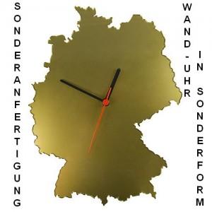 Sonderanfertigung Wand-Uhr in Sonderform - Deutschland