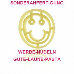 Sonderanfertigung Werbe-Nudeln, Smiley-Nudeln, Gute-Laune-Pasta, Nudel-Sonderanfertigung Smiley
