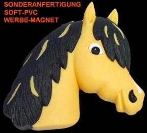 Weichgummiartikel_Magnete_Pferdekopf, Sonderanfertigung Soft-PVC Werbe-Magnet, Werbeartikel-Sonderproduktion