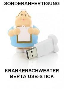 Sonderanfertigung Krankenschwester Berta, USB-Stick für die Pharma-Industrie
