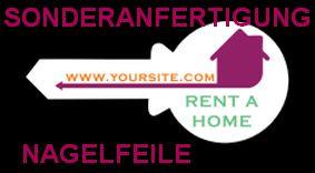 Sonderanfertigung Werbe-Nagelfeile für Immobilien-Makler und Schlüsseldienste