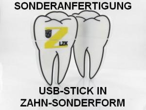 Sonderanfertigung USB-Stick in Zahn-Sonderform