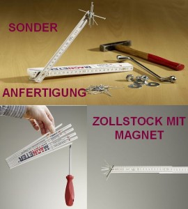 Sonderanfertigung Zollstock mit Magnet