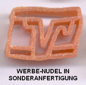 Werbeartikel-Sonderanfertigung Werbe-Nudel, Volksbank-Logo