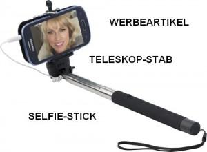 Werbeartikel Teleskop-Stab, Selfie-Stick