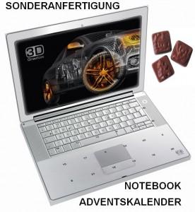 Sonderanfertigung Notebook-Adventskalender für die Telekommunikationsbranche und die IT-Branche