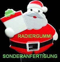 Sonderanfertigung Radiergummi Santa - Weihnachten Sonderform