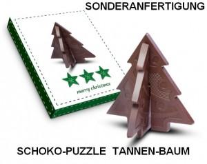 Sonderanfertigung Schoko-Puzzle Tannen-Baum