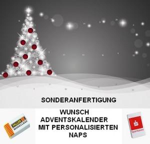 Sonderanfertigung Wunsch-Adventkalender mit personalisierten Naps