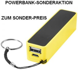 Powerbank-Sonderaktion, Sonderpreis, Werbeartikel-Sonderaktion