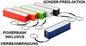 Sonder-Preis-Aktion Powerbank mit Werbeanbringung