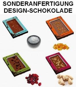 Sonderanfertigung Desing-Schokolade