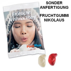Sonderanfertigung Fruchtgummi-Nikolaus, Weihnachtsmann, Santa Claus
