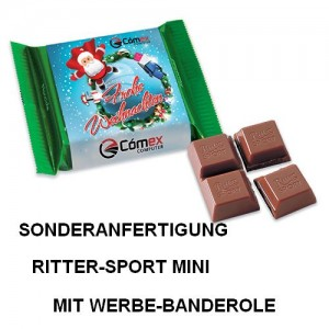 Sonderanfertigung Ritter-Sport Mini mit Werbe-Banderole