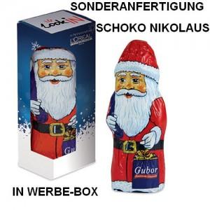 Sonderanfertigung Schoko-Nikolaus in Werbe-Box