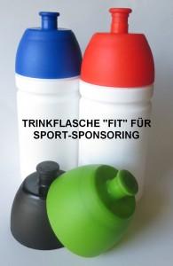 Trinkflasche Fit für Sport-Sponsoring