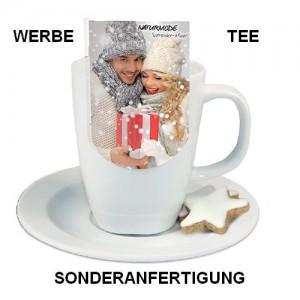 Werbe-Tee mit Tassen-Reiter in Sonderanfertigung