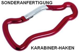 Karabiner-Haken Sonderanfertigung, Aluminium-Karabiner_Rundprofil_Flasche