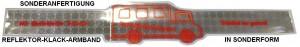 Kontur-Klack-Armband in Sonderanfertigung als Sonderform Bus
