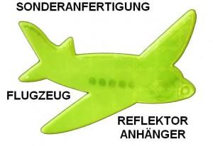 Reflektor-Anhänger in Sonderanfertigung - Flugzeug