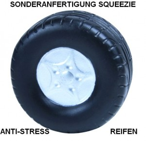 Sonderanfertigung Reifen als Squeezie, Anti-Stress