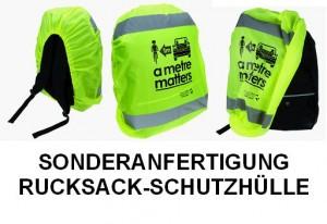 Sonderanfertigung Reflektor-Rucksack-Schutzhülle für Banken und Versicherungen oder Fahrrad-Händler