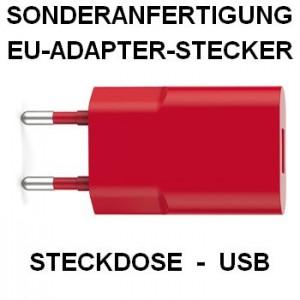 Sonderanfertigung, EU-Adapter-Stecker Steck-Dose-USB, MO8645