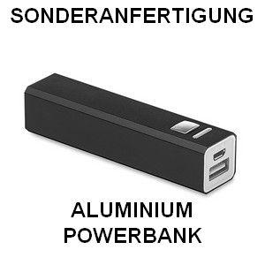 Sonderanfertigung Powerbank aus Aluminium, PowerAlu