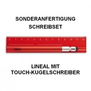 Sonderanfertigung Schreibset, Lineal mit Touch-Kugelschreiber, Schreib-Set Duo-Tool, MO8628_25