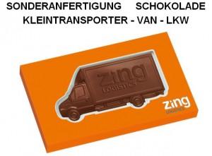 Sonderanfertigung Schoko-Kleintransporter, VAN, LKW
